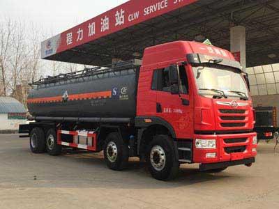 解放前四后六18.2吨腐蚀性物品罐式运输车