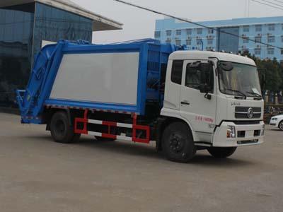 东风天锦6吨压缩式垃圾车