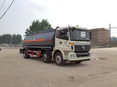福田小三轴14.2吨腐蚀性物品罐式运输车