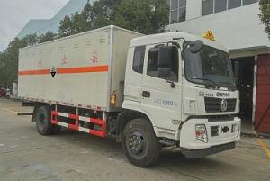 东风特商9吨腐蚀性物品厢式运输车