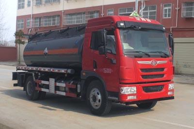 解放8.8吨腐蚀性物品罐式运输车