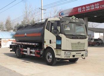 解放8.2吨腐蚀性物品罐式运输车