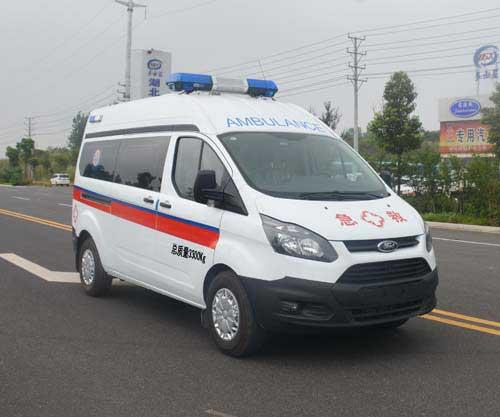 福特全顺V362高顶监护型救护车