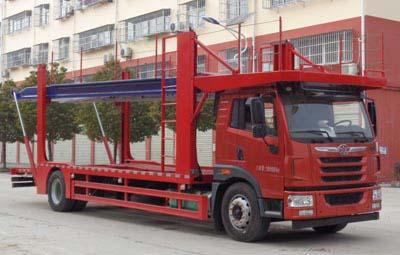 解放牌龙V中卡车辆运输车