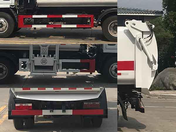 帝王環衛牌HDW5040TCAE6型餐廚垃圾車-側后防護照片