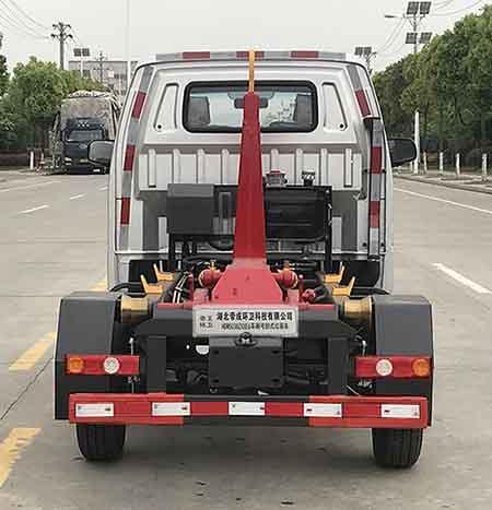 帝王環衛牌HDW5038ZXXE6型車廂可卸式垃圾車-后部照片