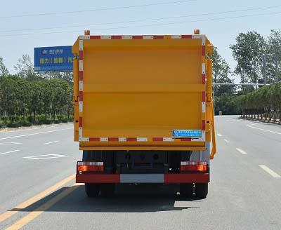 程力威牌CLW5040ZZZLS6型自裝卸式垃圾車-后部照片