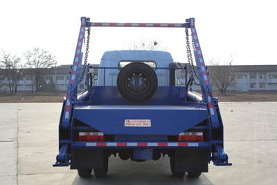 寧汽牌HLN5120ZBSE6型擺臂式垃圾車-后部照片